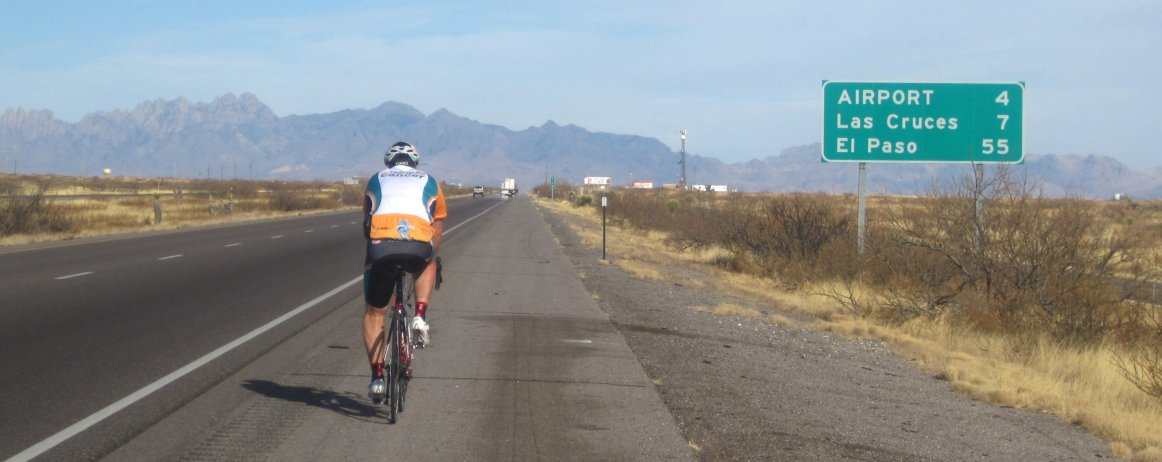 day 12 lordsburg nm to las cruces nm bicycling on interstate 10